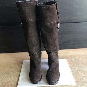 Guess | Brown Suede Tall Boots, 6.5""